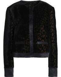 Roberto Cavalli - Satin-trimmed Velvet Jacket - Lyst