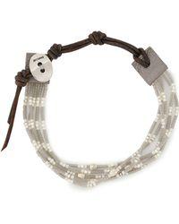 Chan Luu - Beaded Leather Bracelet Light Grey - Lyst