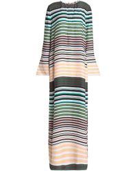 Equipment - Striped Silk Maxi Dress - Lyst