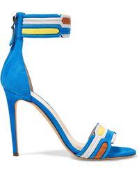 Peter Pilotto | Color-block Suede Sandals | Lyst