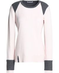 Duffy - Ribbed-paneled Two-tone Cashmere Jumper - Lyst