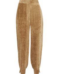 Stella McCartney - Velvet Tapered Pants - Lyst
