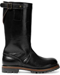 Ann Demeulemeester - Buckled Glossed-leather Boots - Lyst