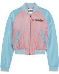 Moschino - Woman + My Little Pony Appliquéd Lurex Bomber Jacket Pink - Lyst