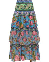 Anjuna - Candy Tiered Floral Skirt - Lyst