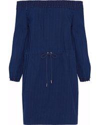 Rag & Bone - Drew Off-the-shoulder Cotton-chambray Mini Dress - Lyst
