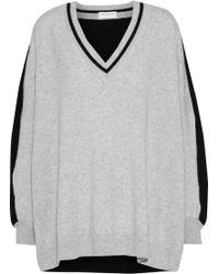 Amanda Wakeley - Woman Oversized Two-tone Cashmere Sweater Gray - Lyst