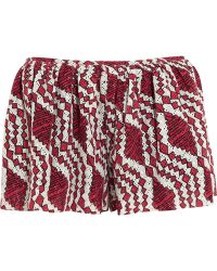 Thakoon Addition   Printed Broderie Anglaise Cotton Shorts   Lyst