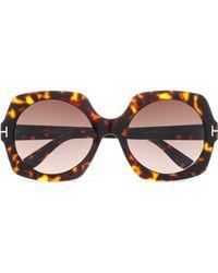 Tom Ford - Square-frame Tortoiseshell Acetate And Gold-tone Sunglasses - Lyst