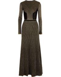 Vionnet   Metallic Crochet-knit Wool Maxi Dress   Lyst