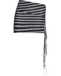 Magda Butrym - La Plata Fringed Leather And Cotton Mini Skirt - Lyst
