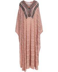 Missoni - Bead-embellished Metallic Crochet-knit Kaftan - Lyst