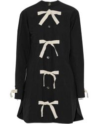 JW Anderson - Knotted Cotton And Linen-blend Poplin Mini Dress - Lyst