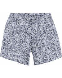 Sleepy Jones - Printed Cotton Pajama Shorts - Lyst