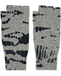 Autumn Cashmere | Tie-dye Cashmere Fingerless Gloves | Lyst