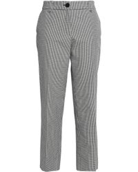Claudie Pierlot - Checked Cotton Straight-leg Pants - Lyst