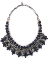 Valentino - Gunmetal-tone Crystal Necklace - Lyst