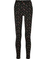 Victoria Beckham - Floral Stretch-jacquard Skinny Pants - Lyst