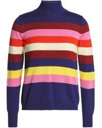 Delpozo - Striped Merino Wool Turtleneck Jumper - Lyst