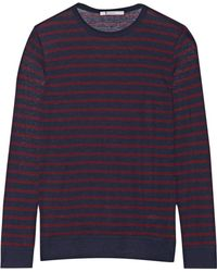 T By Alexander Wang - Striped Jersey Top - Lyst