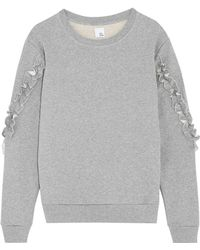 Iris & Ink - Ruffle-trimmed Cotton-jersey Sweatshirt - Lyst