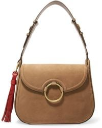 Tory Burch - Tasselled Leather Shoulder Bag - Lyst