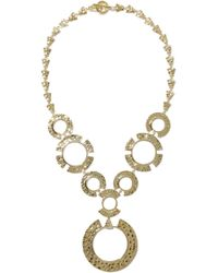 Noir Jewelry - Hammered Gold-tone Necklace - Lyst