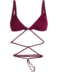 Cushnie et Ochs - Strap-detailed Triangle Bikini Top - Lyst