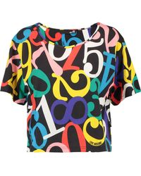 Love Moschino - Printed Cotton Top - Lyst