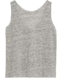 Theory - Mélange Stretch Linen-jersey Top - Lyst