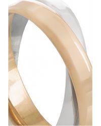 Inez & Vinoodh - 18-karat Rose Gold And Sterling Silver Interlinked Rings - Lyst