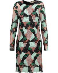 Emilio Pucci - Paneled Macramé Lace Dress - Lyst