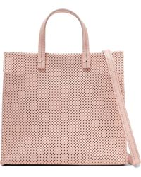 Clare V. - Simple Perforated Leather Tote - Lyst