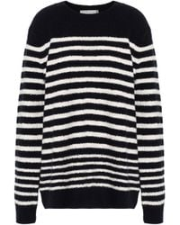 Vince - Striped Wool-blend Sweater - Lyst