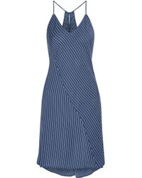 DKNY - Striped Voile Nightdress - Lyst