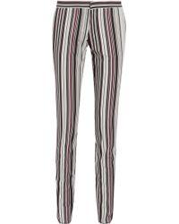 Giambattista Valli - Striped Cotton-blend Twill Slim-leg Trousers - Lyst