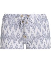 Melissa Odabash - Lace-up Jacquard-knit Shorts - Lyst