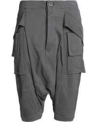 Rick Owens - Textured-crepe Shorts - Lyst