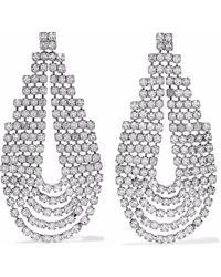 Elizabeth Cole - Silver-tone Crystal Earrings Silver - Lyst