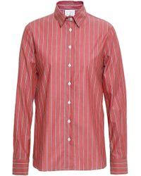 151bf1b4 Stella Jean - Woman Striped Cotton-poplin Shirt Antique Rose - Lyst