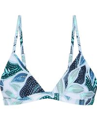 Mara Hoffman | Printed Triangle Bikini Top Sage Green | Lyst
