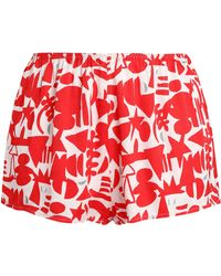 Love Stories - Printed Twill Pajama Shorts - Lyst