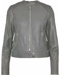 Belstaff - Clark Buckle-embellished Leather Biker Jacket - Lyst