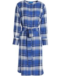 M.i.h Jeans - Edie Checked Flannel Shirt Dress - Lyst