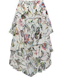 Jason Wu - Ruffled Floral-print Silk-georgette Skirt - Lyst