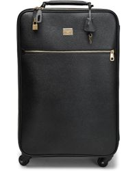 Dolce & Gabbana - Textured-leather Suitcase - Lyst