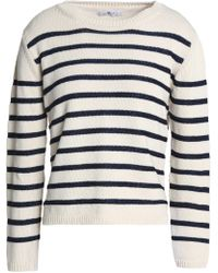 7 For All Mankind - Striped Cotton-blend Jumper - Lyst