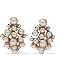 Elizabeth Cole - Gold-tone Faux Pearl Earrings - Lyst