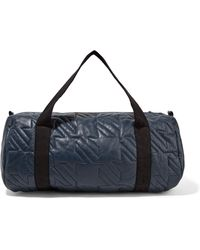 Maje   Metallic Quilted Leather Shoulder Bag Storm Blue   Lyst