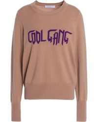 Sandro - Intarsia Wool And Cashmere-blend Jumper - Lyst